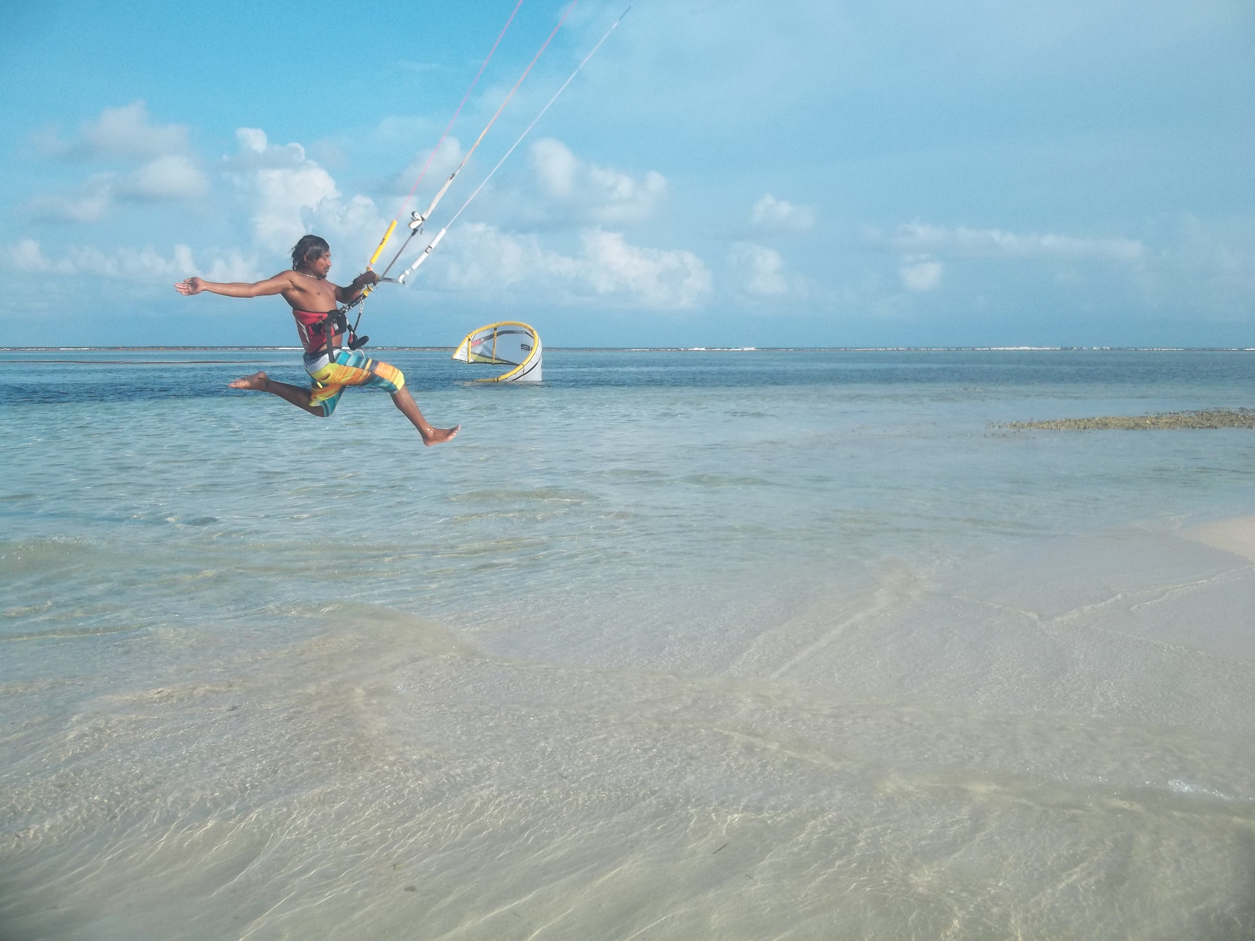 extreme sports kite sufing