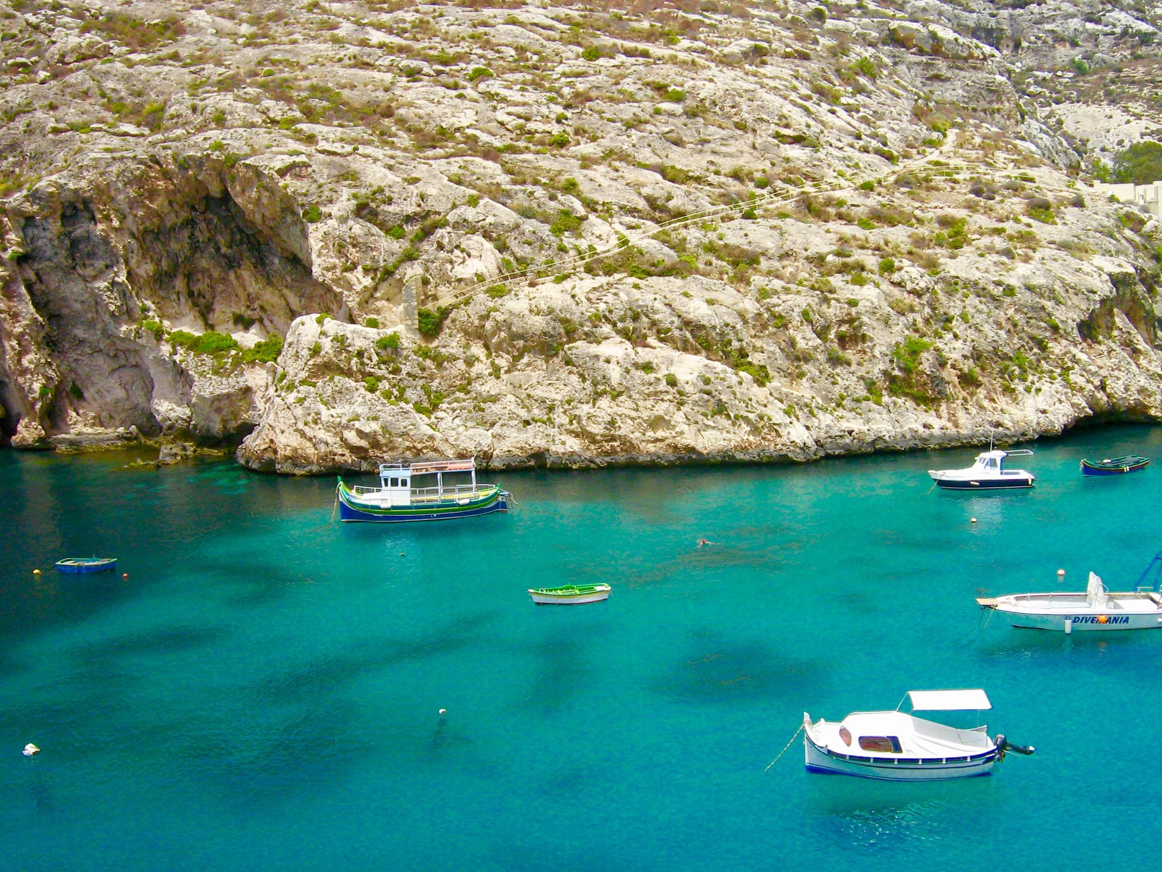 Malta Island Fishermen Boats