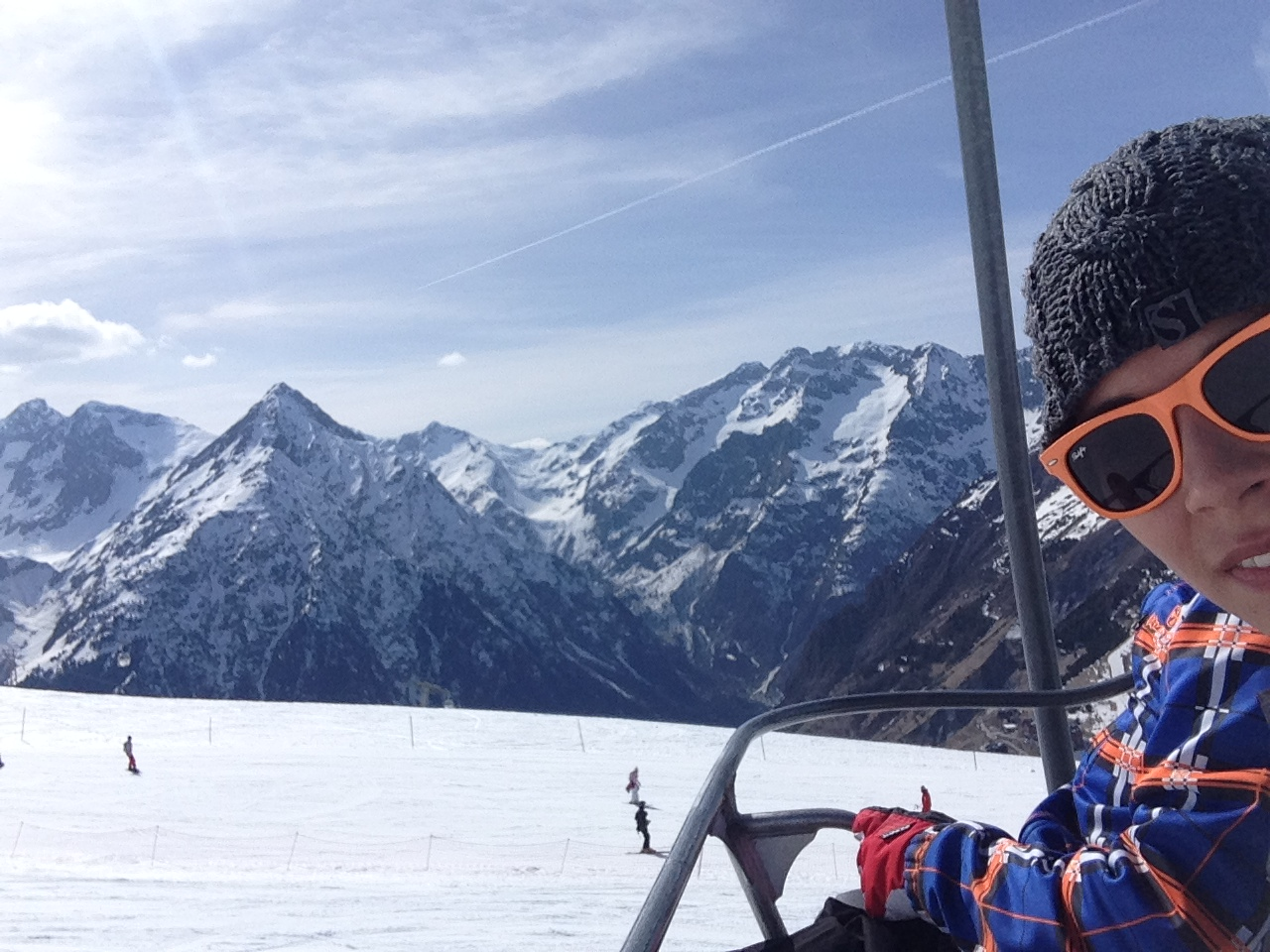 Snowboarding in the French Alps