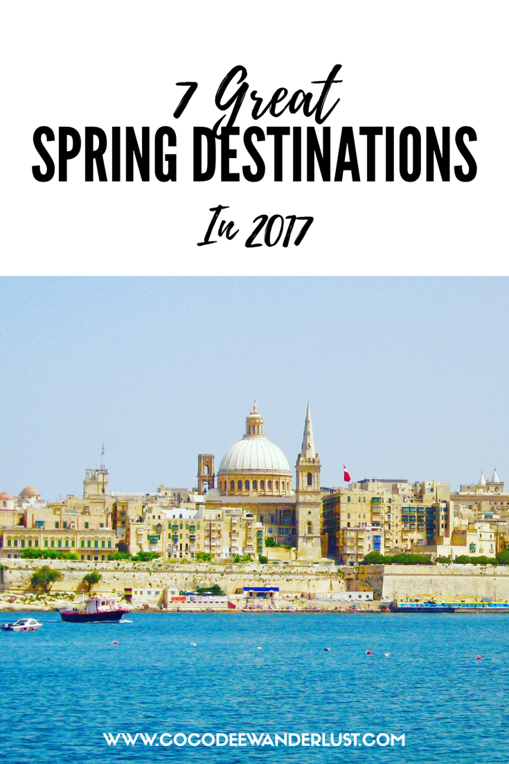 Pinterest 7 Great Spring Destinations in 2017