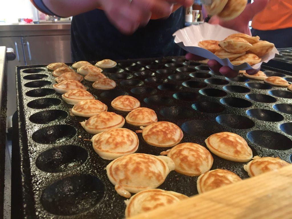 Dutch food poffertjes