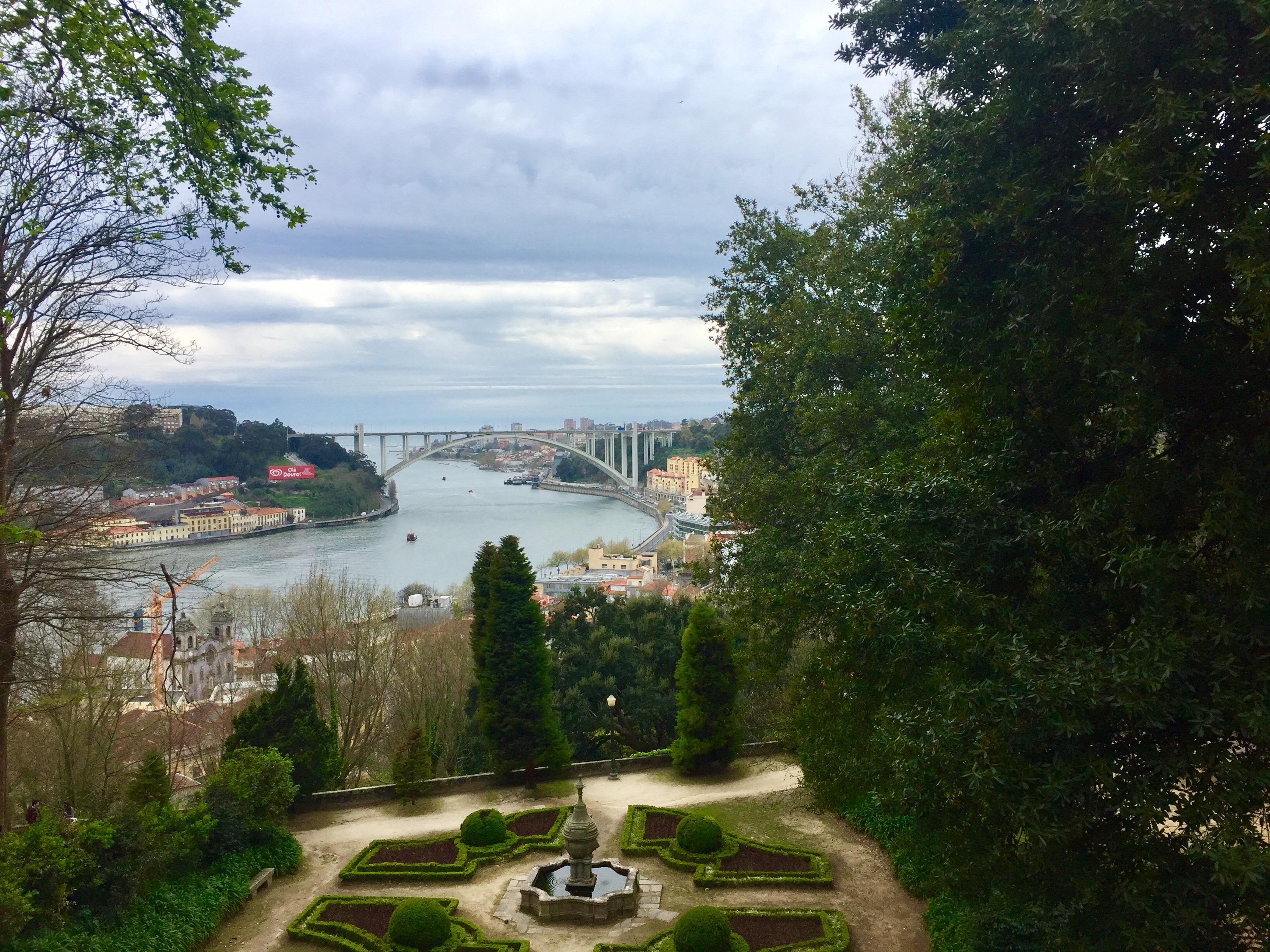 Porto view gardens Douro