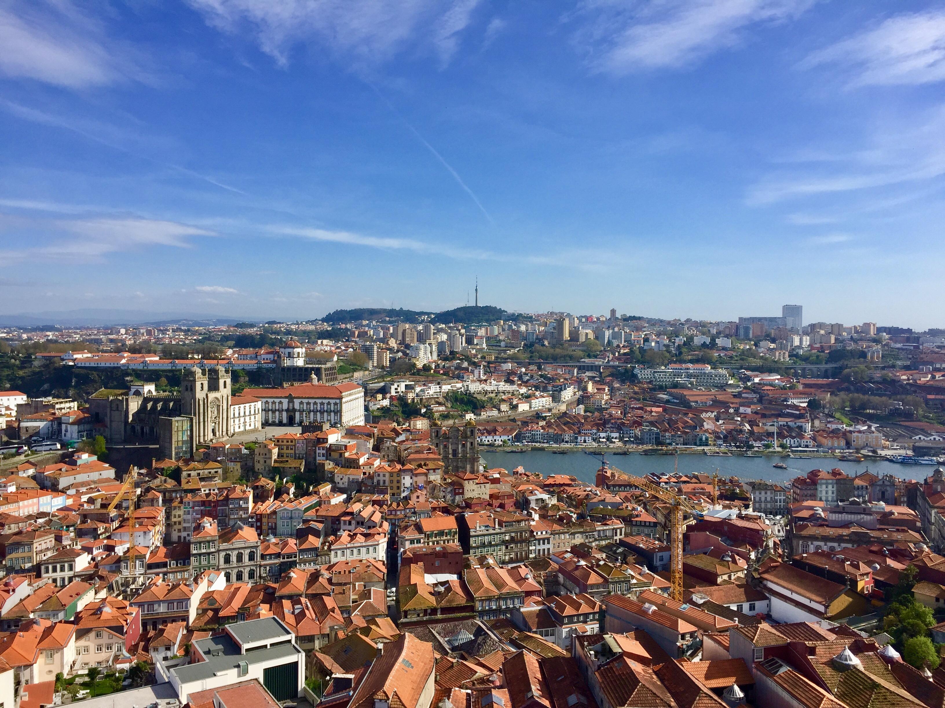 Porto view tower panoramic