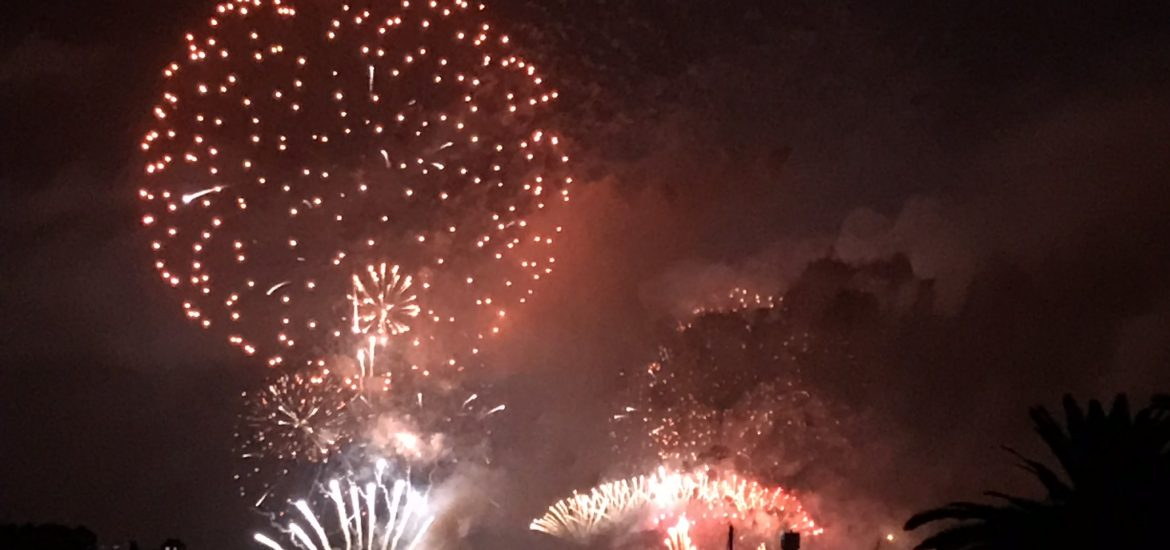 Celebrating New Years in Syndey Harbour Bridge