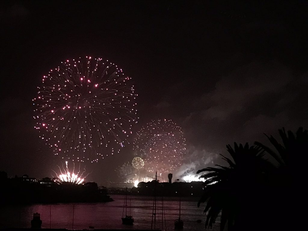 New Years Sydney Bridge fireworks