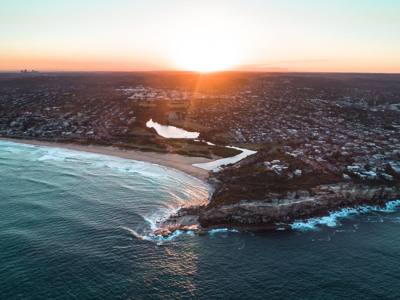 East Coast of Australia sundown