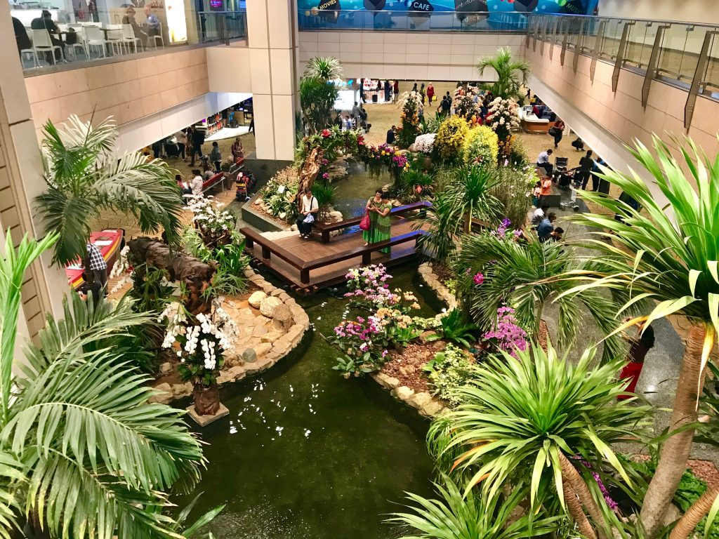 Entertainment at Singapore Airport garden