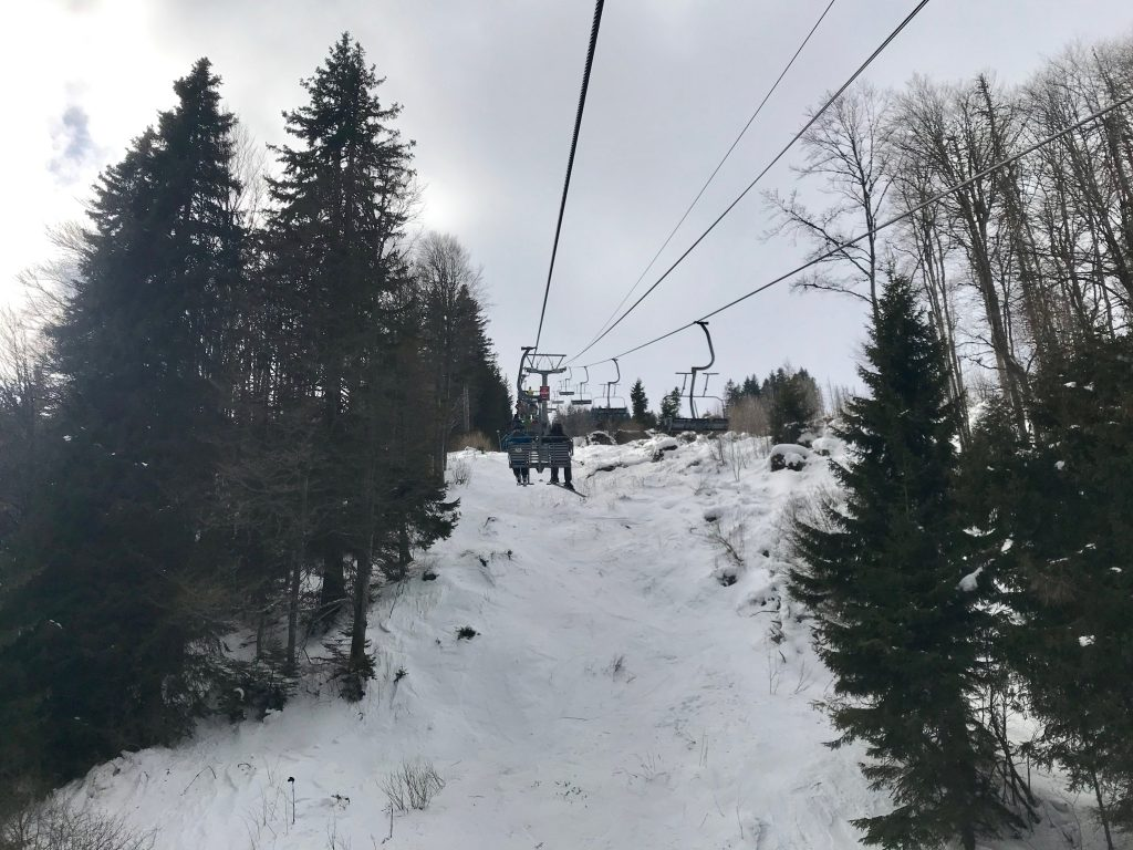 Weekend Ski Trip in Sofia lift