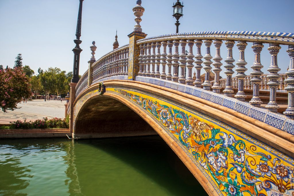 Seville brown and gray bridge